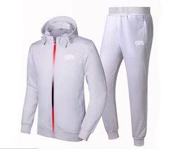Wholesale Men Sweat Hoodie Korean - BBC sweat suit 2017 South Korean Men tight thin cotton fashion leisure Sweatshirts set Male brand sports hoodies + pants Tracksuits