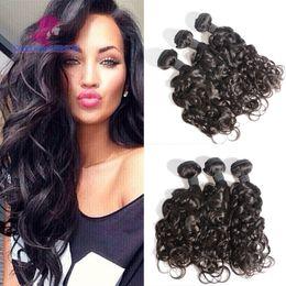 Wholesale Short Curly Hair Piece - Brazilian Bouncy Curly Human Hair Bundles 3pcs lot 100g Funmi Spring Curly Short Virgin Brazilian Human Hair Extensions Weaves