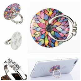 Wholesale Cell Phone Finger - Mobile Phone Ring Bracket Lazy Stent Cell Phone Buckle Metal Band Diamond Finger Ring 360 Rotate Universal Phone Magnetic Holder on Desk
