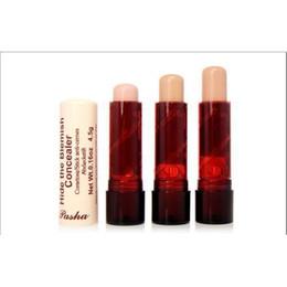 Wholesale Concealer For Lips - Wholesale Pasha Women's Lip Eyes Concealer Hide The Blemish Creamy Concealer Stick Facial Concealer for Acne Marks Black Eyes Pouch Mak