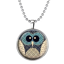 Wholesale Steampunk Owl Pendant - Fashionable Time Stone Cartoon Owl Necklace Steampunk Choker Jewelry Pendant Necklace
