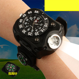 Deutschland Intelligente Uhren LED-Licht im Freien Gang Camping Uhr elektrische Stoppuhr Kompass Richtung für Camping Radfahren LED Taschenlampe Lithium-Batterie Versorgung