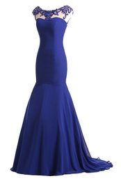 Wholesale Trumpet Shaped Prom Dresses - 2016 new round neck Portrait Mermaid Evening Dresses flower-shaped beads trailing formal adult catwalk Dress Red Carpet Prom Gown Plus Size