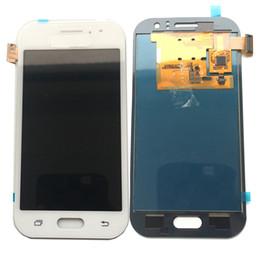 Digitalizador ace on-line-Novo display lcd touch screen digitador para samsung galaxy j1 ace 2015 j110 j110f j110m não ajustado ouro preto branco dhl logística