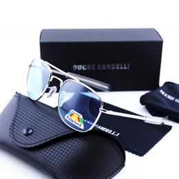 Wholesale military framing - News air force glasses Pilot Army Men Metal Polarized 57 mm 52 mm military DRIVING SUNGLASSES oculos gafas lunettes with box