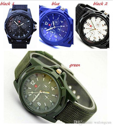 Wholesale Luxury Christmas Ribbons - Hot sale christmas watches Luxury Analog SWISS ARMY new fashion TRENDY SPORT MILITARY STYLE WRIST WATCH for MEN watch free shipping