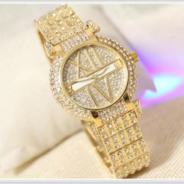 Wholesale Diamond Shape Rhinestone - W1 elegant women rhinestone watch fashion steel ladies watch vintage women dresswatch quartz brand luxury ceramic diamond watch