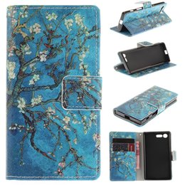 Wholesale M5 Phones - For Sony M5 Z2 Z3 Z5 Z4 mini E1 T3 E4 M4 Case Fashion Advanced Wallet Case Flip Stand Phone Case Retail Package