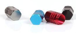 Wholesale Alloy Valve Caps - (20 set  lot ) Wholesale 4*Aluminum alloy tire valve cap mix color universal