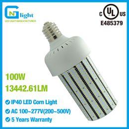 Wholesale Led Aluminum Heatsink - 400W metal halide replacement LED light bulbs 100W high bay fixture warehouse lights aluminum heatsink AC100~277V E39 mogul base