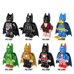 Wholesale Child Fantasy - New Action Minifigures Super Heroes Bat Series Fantasy Building Blocks Children Christmas Gift DIY Toys 8pcs set PG8026