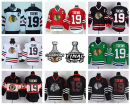 Best 19 Jonathan Toews Trikot Chicago Blackhawks Winter Classic Eishockey Sport Home Red Alternative Weiß Grün Schwarz Skull von Fabrikanten
