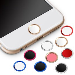 Wholesale Key Sticker Iphone - Touch ID Home Button Sticker for iPhone 5s 6 6s 7 Plus with Fingerprint Identification Function Unlock Key Stickers