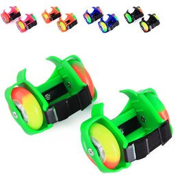 Wholesale Wheeling Shoes For Kids - Flashing Roller Small Whirlwind Pulley Flash Wheel Roller Skates Flashing Roller Skating Shoes for Kids Sports Rollerskate TJ0009