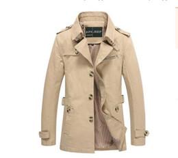 Wholesale Trench Coat Men Waist - Men Jacket Coat Long Section Fashion Trench Coat Jaqueta Masculina Veste Homme Brand Casual Fit Overcoat Jacket Outerwear 5XL Autumn