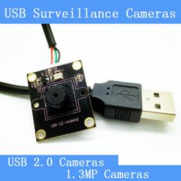 Mini CCTV Telecamere di sorveglianza quadrate HD 1.3 megapixel modulo per visione notturna USB 2.0 da