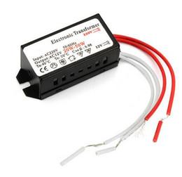 3528 cavo di alimentazione principale Sconti Trasformatore elettronico del driver LED dell'alimentazione elettrica dell'alimentazione della lampada dell'alogeno 12V 20W-50W G4 per la lampada alogena a bassa tensione