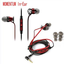 Wholesale Mega Bass Earphone - MOMENTUM In-Ear M2 IEI Earphones HiFi Headphones Noise Cancelling Piston Earbuds Mega Bass with Remote & Mic Universal for iPhone LG Samsung