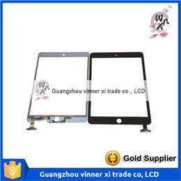 Wholesale Glass Panel Connector - 1pcs lot for iPad mini Digitizer Touch Screen Glass lcd panel with IC Connector & Home Button Flex full set Complete