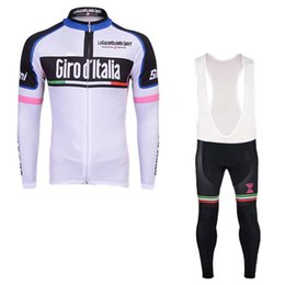 Wholesale Italia Cycle Jersey - Tour De Italy D\'ITALIA 2017 Cycling Jerseys Long Sleeves Cycling Shirt Bike Bib Pants Suits Bicycle Clothing Quick Dry Ropa Ciclismo C1402