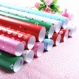 Wholesale Specialty Packaging - 51*72cm Christmas Gifts Packaging Paper Gifts Wrapping Paper For Birthday Party Wedding Christmas Decorations Gifts Packaging Party Supplies