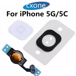 Wholesale Cable Menu - New Original Quality Replacement For iphone 5 5G 5C Home Menu Button Flex Cable Fully Fomplete Assembly Repair Parts Free shipping