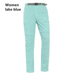 Wholesale Women Hunting Pants - Womens Removable Hiking Camping Pants Spring Summer Female Quick Drying Female Outdoor Trekking Hunting Camping Sports Trousers
