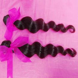 Wholesale Bundled Ribbon - 2 bundles Virgin Indian Loose Curls Thick bundles Pink Ribbon Lovely Texture Buy Now