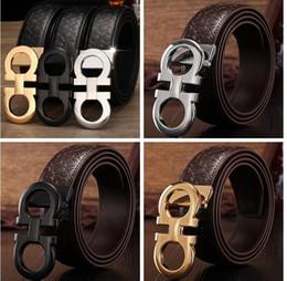 Wholesale Branded Designer Belt For Men - luxury Brand designer belts for men Fashion high quality big buckle belt male Genuine cow leather F belts mens designer belt with LOGO B632