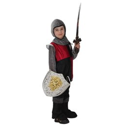 Wholesale Brave Cosplay - 2015 Children cosplay Halloween costume Children's Day performanc clothing brave Roman soldier performing clothing suit A070365