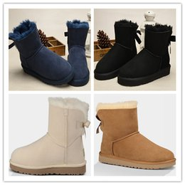 Wholesale Short Boots For Women - 2017 Hot Sale Australia Classic Short Snow Boots Real Leather Winter Boots Leather Boots For Women Girls Size 36-41
