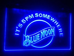 Wholesale Cheap Sign Lighting - b-102 blue moon LED Sign Neon Light Sign Display Cheap sign window High Quality signs magnetic