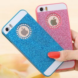 Wholesale Diamond Logo Iphone - a CAT For iphone  6s Plus Bling Diamond Hard Back Case, Luxury Fashion Hole For Apple Brand LOGO Glittering Case For iphone 5 6
