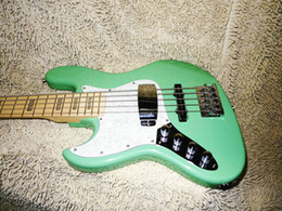 Wholesale Left Handed Green Guitars - Guitar Factory left handed Bass 5 Strings Bass Green backhand bass China guitar New Style