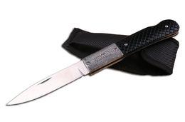 Wholesale Fold Folder - Collection Knife FB3021 Handmade Folder 440 58HRC Blade Pretty Pattern Handle EDC Pocket Camping Knife With Nylon Sheath F675E