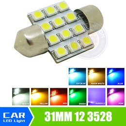 Wholesale Dome Map Interior Light - 31mm 3528 1210 SMD 12 LED Car Auto Festoon Dome Interior Map Lights Bulb Lamp for DC 12V Blue Green Yellow Red
