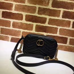 Wholesale Christmas Closures - Hot selling fashion brand handbag high quality real leather women single shoulder bagTop zipper closure bags crossbody bag with double g