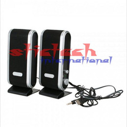 Wholesale Floor Jacks - 100pcs 120W USB Power Laptop Audio Speaker Portable 3.5mm audio jack Speaker For Computer