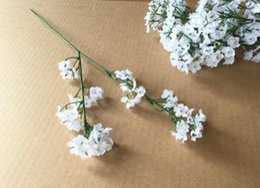 Wholesale Artificial Flowers Gypsophila - 2 colors Gypsophila Baby's Breath Artificial Fake Silk Flowers Plant Home Wedding Decoration