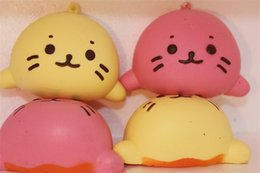Gato de água Squishy Telefone Correias Encantos Forma Animal Squishies Lento Rebote Kid Jogando Brinquedo Casa Rosa E Amarelo Kawaii 3 5lga CR de