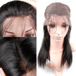 Wholesale Hair Full Lace Wigs - XBL Silky Straight Human Hair Wigs For Black Women Straight Full Lace Wigs And Lace Front Wigs 8-24 Inch Accept