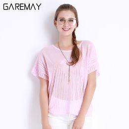 Wholesale Ladies Tops Butterfly Sleeve - Women Blouses Loose Shirt Summer Blusas Femininas Top Short Sleeve Hollow Out Shirt Blouse Butterfly Sleeve Top Ladies Tataria