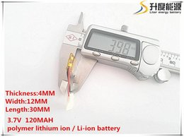 Wholesale Power Bank Lithium Battery - Hot selling 10pcs [SD] 3.7V 120mAH 401230 Polymer lithium ion   Li-ion battery for TOY,POWER BANK,GPS,mp3,mp4,cell phone,speaker
