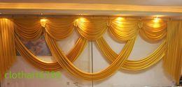Scène de mariage drape en Ligne-6 m de large conçoit styliste de mariage swags pour la toile de fond Party Rideau Célébration Stage toile de fond rideaux