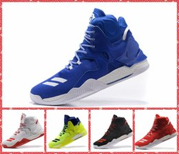 Wholesale Silk Fabric Roses - 2016 men athletic derrick rose VII basketball boost shoes adult d rose 7 trainer sneakers Flame & black & red & new york Blue & white