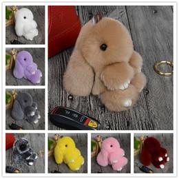 Wholesale Multicolor Handbags Wholesale - 2016 New Rex Play Dead Rabbit Key chain 17 Colors Fur Car Backpack Rabbit Doll Pendant Fashion Toys Wallet Handbag Pendant Without Box