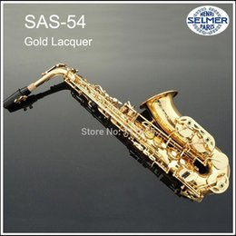 Wholesale Selmer Reference - Wholesale-Professional Instruments France Henri Selmer Sax Alto Saxophone Reference 54 Electrophoresis Gold Plated Saxofone with Case