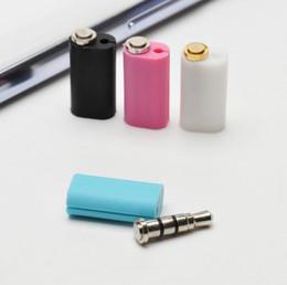 Wholesale Earphone Mm Plug - Fashion Hot 3.5 MM Earphone Jack Smart Key Shortcuts Dust Plug Klick Quick Button for Android Mobile Phone
