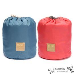 Wholesale Purse Drawstring Storage Bag - Organizer Organizador 1pcs High Quality Storage Makeup Bag Set Barrel Shaped Travel Case Purse Nylon Drawstring Elegant Drum Wash Bags Women