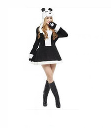 Wholesale Panda Suit Adult Size - Halloween Masquerade clothing Cute panda suit adult Cartoon clothing Halloween costume